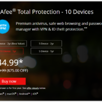 McAfee Black Friday 2020 Sale & Deals
