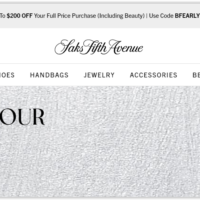 Saks Fifth Avenue Black Friday 2020 Sale & Deals