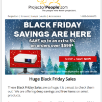 Projector People Black Friday 2020 Sale & Deals